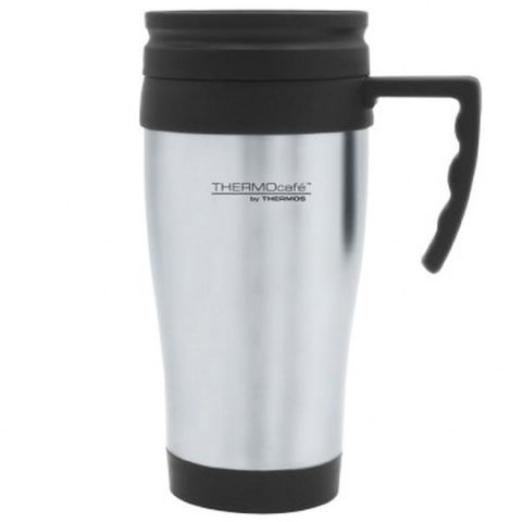 Thermos Metal Thermocafe Car Travel Cup Mug with Handle